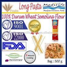 100% Durum Wheat Semolina Flour,Spaghetti Macaroni Whole Wheat,Long Pasta ,500 g Bag