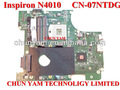 Venta al por mayor cn-07ntdg 07 ntdg 7 ntdg placa base del ordenador portátil sistema de junta para dell inspiron n4010& placa base profesional de prueba totalmente