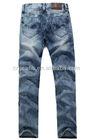 GZY stock man slim denim cheap pants fashion straight machine jeans for men