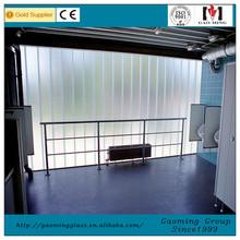 Glass facade,partition with U shape glass/U glass