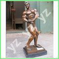 Desnudo hombre de bronce de la escultura para la decoración del jardín bfsn- d378