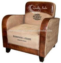 Antonin Rodet Leather Linen Fusion Sofa
