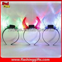 light up devil horns for halloween LED plastic devil horns