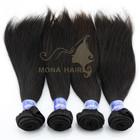 2014 Mooth hair supplier, top quality human 7a elastic band natural Brazilian Straight Hair