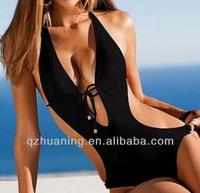 2014 young girls black swimsuit swimwear sexy