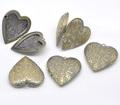 Bronzo antico cuore a forma di immagine/foto telaio medaglione pendenti(in forma 28x26mm)