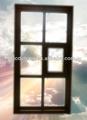 De estilo europeo de aluminio- madera compuesto ventana