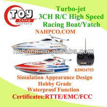 High-speed Turbo-jet 3CH R/C Yatch/Racing Boat