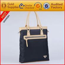 wholesale designer brand men fabric and genuine leather handbags