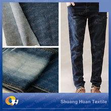 Sh-t355 11 oz venta al por mayor de algodón y poliéster estiramiento Denim Jean tela
