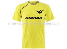 2014 hot sale branded tennis t shirts manufacturer