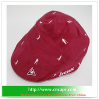 red ivy cap corduroy