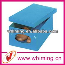 cheap hand made printed decorative custom folding cardboard shoe box wholesale