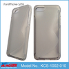 Factory price high transparent TPU case for iphone 5 5S