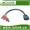 One DB9 Male to Multi RCA Female Cable