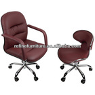 best quality comfortable leather burgundy nail hand chairs RF-L054-1