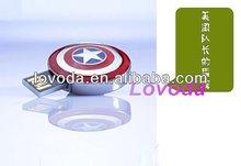 latest hottest sale Captain America's shield shape usb flash disk /usb pen drive/wholesale buy usb flash drive LFN-054