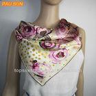 2014 fashion twill silk scarf (square)