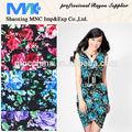 Rayon tecido estampado para o vestuário, modelos de vestidos de viscose