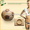 El precio de fábrica para decration de fútbol y baloncesto, tamaño y peso oficial del partido de fútbol de madera bola