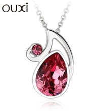 2014 wholesale happy necklace &ouxi jewelry made with swarovski elements 10934-1