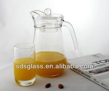 milk jug 1L glass juice jug glass jar with lid