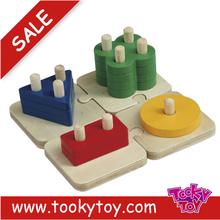 interesting wooden brick puzzle blocks for kids
