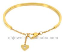 nuovo elegante cuore affascinante oro bracciali immagini per amante