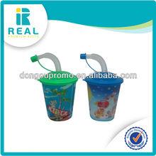 Lenticular Straw Cup 500ML Plastic 3D lenticular Cup