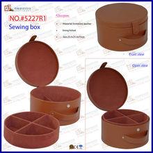 Round Shaped Brown Sewing Storage Box (5227R1)