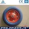 metal rim pu foam wheels 3.00-8