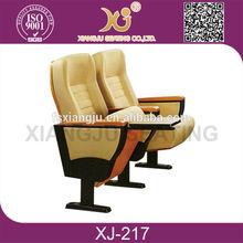 XJ-217 comfortable conference auditorium chair seat/ aluminum wholesale folding auditorium chair