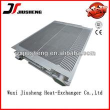 Plate fin/plate bar type brazed aluminum heat exchanger design for oil cooler