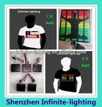 2014 custom design led t-shirt, el t shirt, music led t-shirt Online Shopping