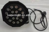 led flat par light/led mini par light/ Cheap Mini Flat Led Par 18x3w Led Par 64