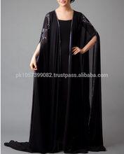 high quality fashion jersey abaya,muslim dress wear -Coat style cheap multi colored jersey abaya design 2014