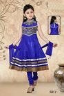 Royal Blue Children Salwar Kameez designs with heavy work for kids