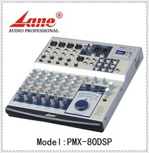 Lane *AMX-802FX 8 channels professional broadcast mixing console with USB SD MP3