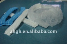 Disposable nonwoven mop cap/clip cap/surgical cap, for medical/food/beauty industry