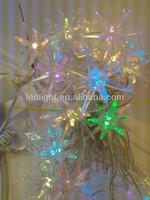 RGB quick flashing effect 3D star motif LED string light