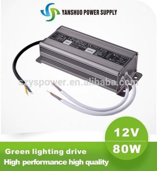 12v 80w led light usb flash driver constant voltage led power