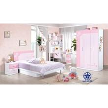 kids bedroom furniture set cheap Girls Bed/Bedroom Set of Glossy Style/kids room furniture