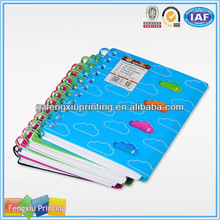 Mini Spiral Notebook with Color Pages