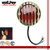 BJ-LPL-017 New Arrival Gold Round Custom Motorcycle Tail Light Assembly for Bobber Chopper