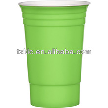 Red disposable plastic solo cup