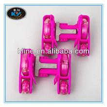Kline hotsell regolabile quattro- ruote in pvc ruota led lampeggiante pattini a rotelle