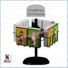 Metal greeting card Display Rack/Floor Standing Card/Literature/Magazine Display Rack For Promotion/Supermarket/office