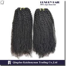 stock 5a+ afro curl virgin brazilian hair, wholesale human hair extension