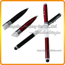 JD-C966 crystal laser pointer led light ball pen pda stylus pen