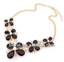 2014 New Fashion Crystal Necklace Four Leaf Clover Design BXcxt9291